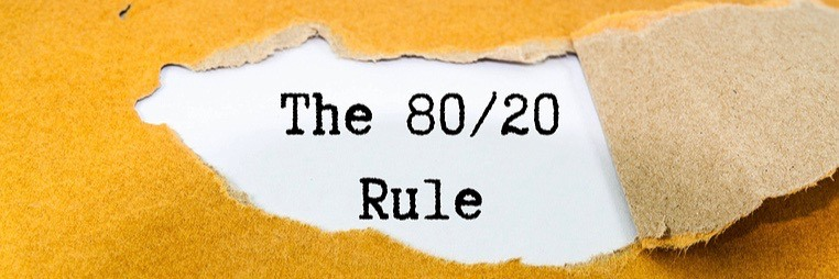 Use the 80/20 rule to live healthier and get results